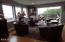424 SW Cliff St, Depoe Bay, OR 97341 - Living Room w/patio door to deck