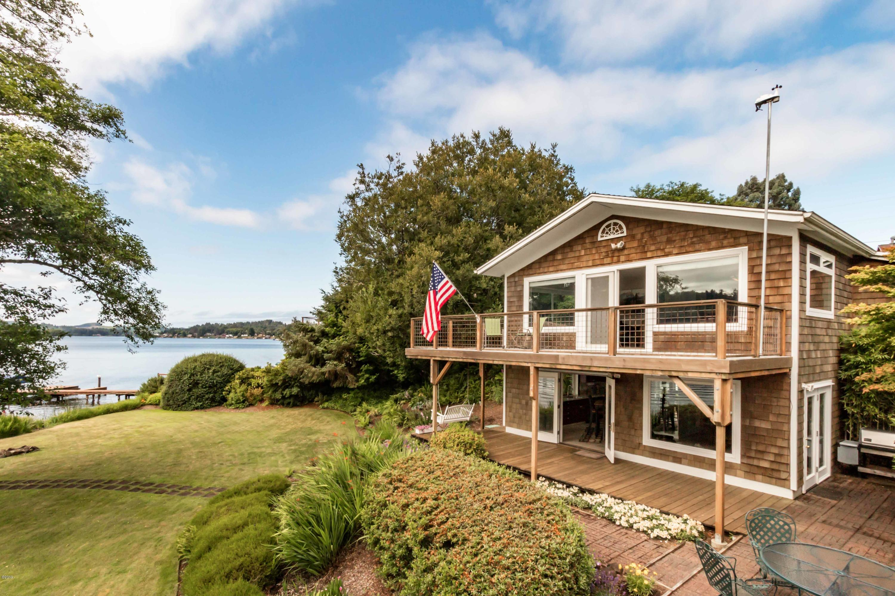 4494 NE 42nd St., Neotsu, OR 97364 - Lake Front Home