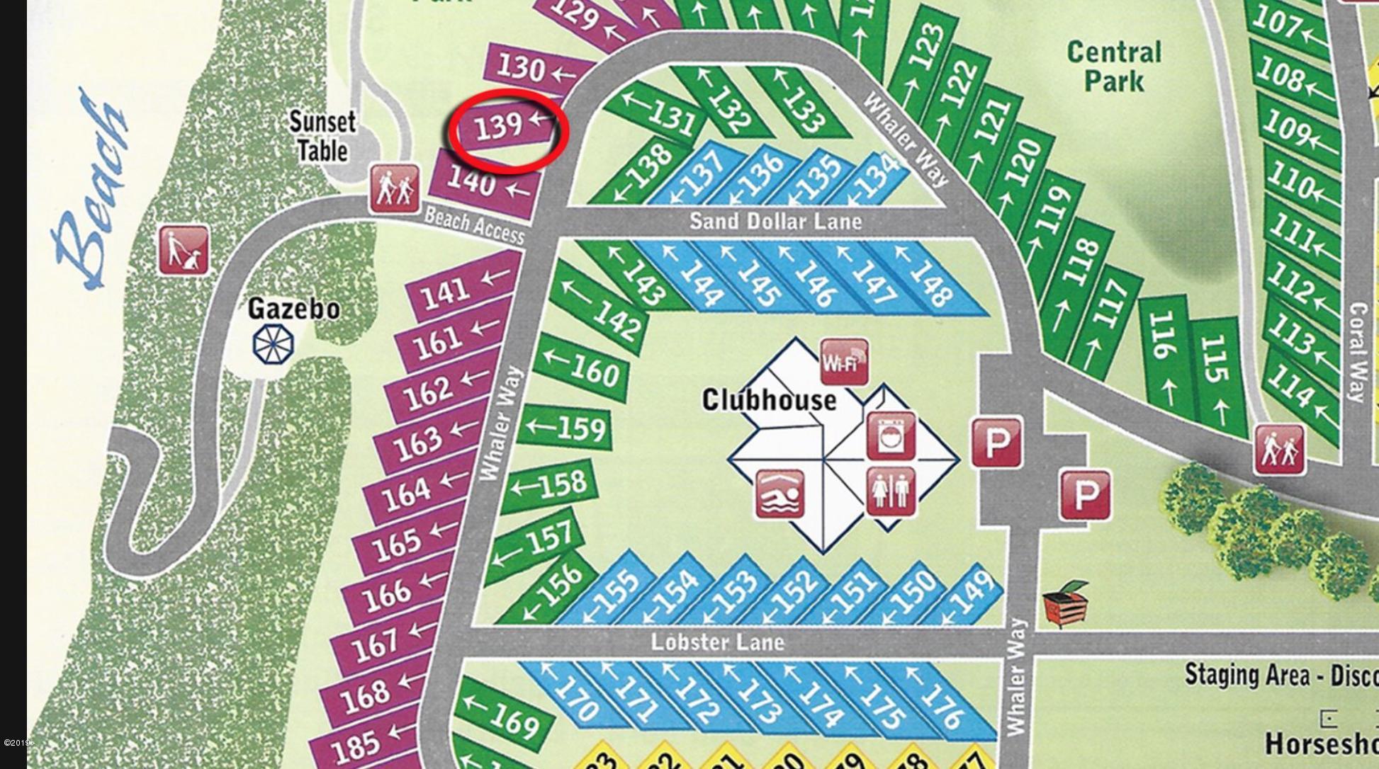 6225 N. Coast Hwy Lot 139, Newport, OR 97365 - Location of lot 139