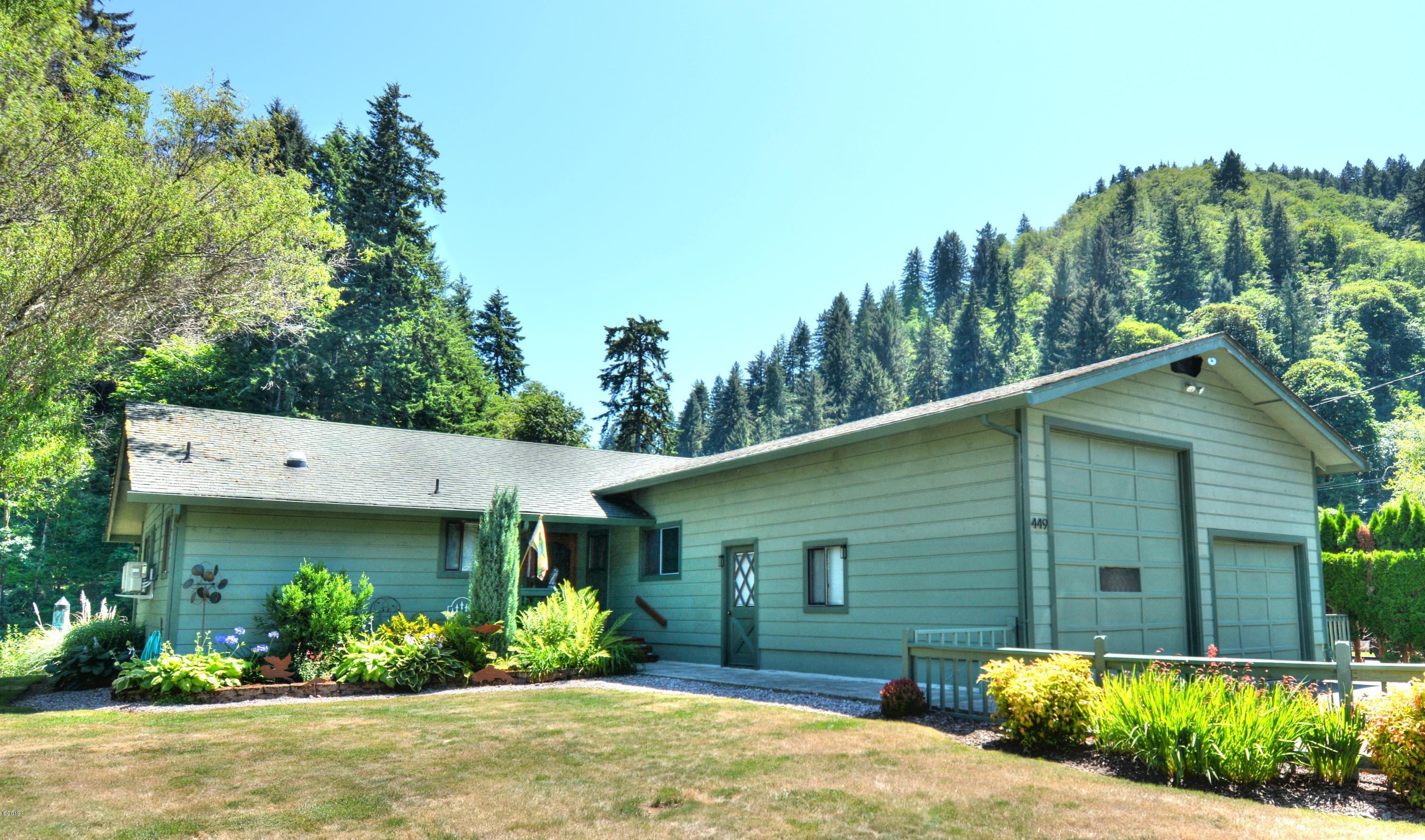 449 E Evans Dr, Tidewater, OR 97390 - Front Of Home