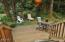 286 NE Evergreen Ln, Yachats, OR 97498 - Back Deck w/Wooded View