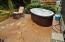 286 NE Evergreen Ln, Yachats, OR 97498 - Back Deck w/Hot Tub