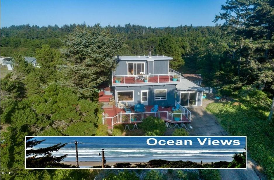 5623 SW Neal Ave, Waldport, OR 97394 - Drone pic w-view insert