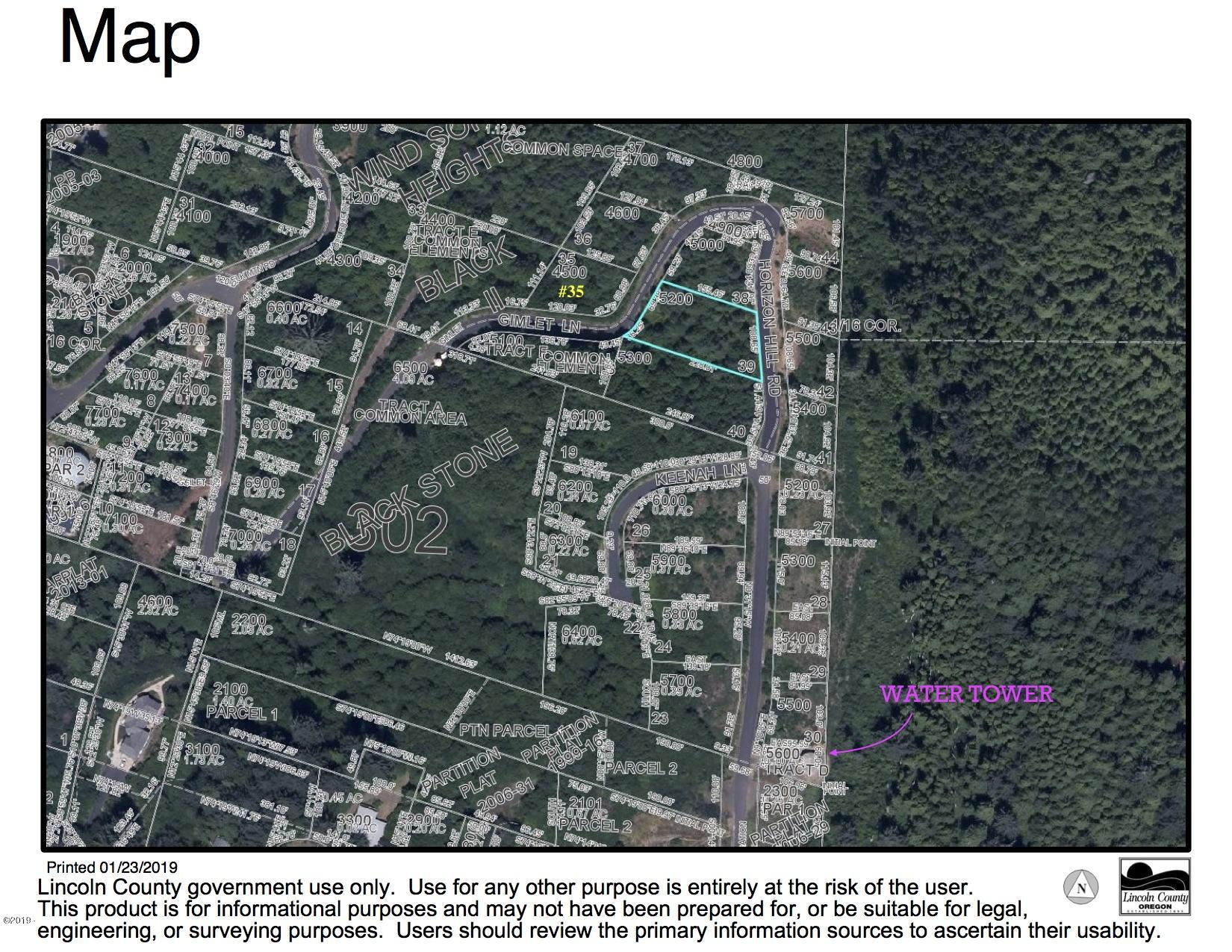 LOT 35 T/l#4500 Gimlet Lane, Yachats, OR 97498 - T:L4500 Aerial map