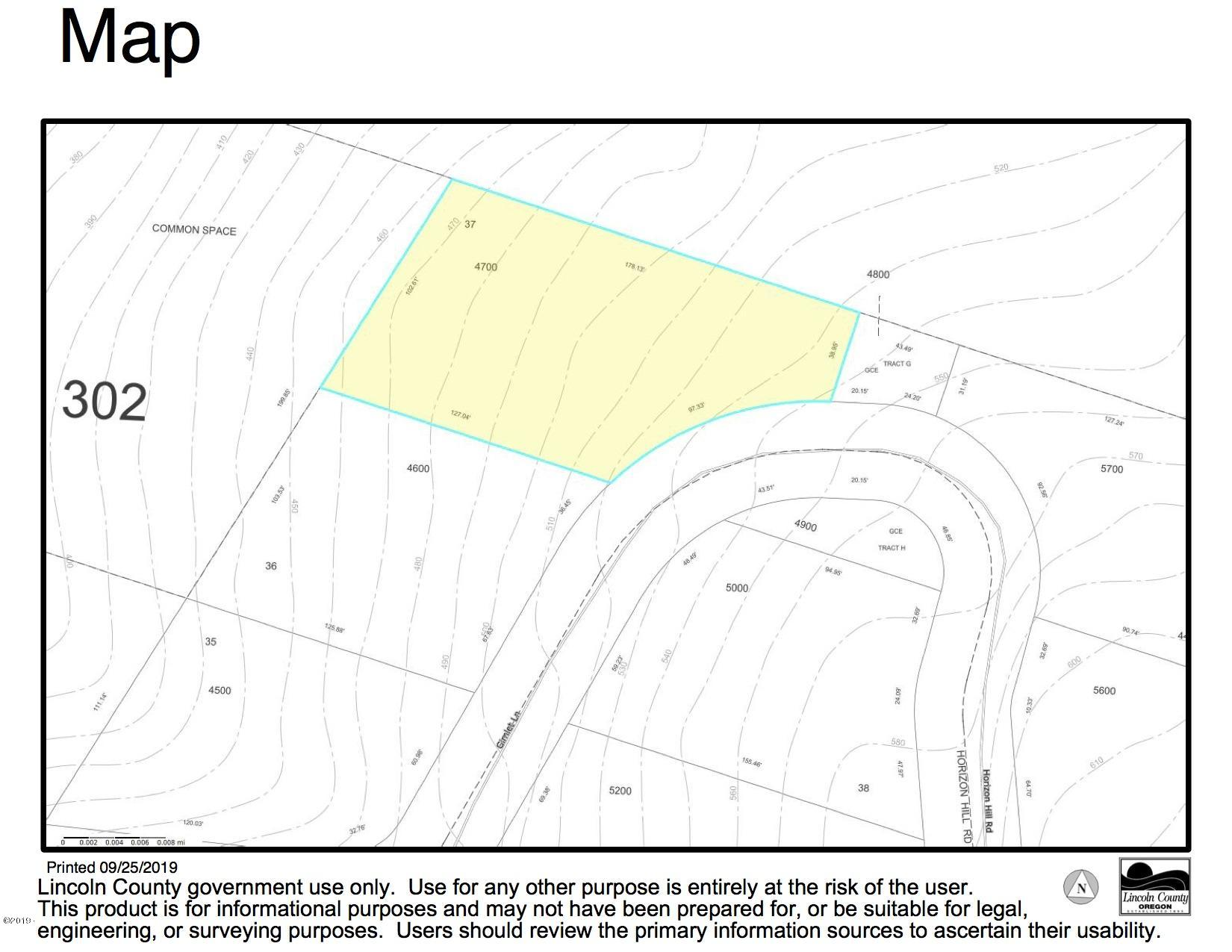 LOT 37 T/l#4700 Horizon Hill Road, Yachats, OR 97498 - T:4700