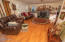 2211 NE 36th Dr, Lincoln City, OR 97367 - Living Room with Pellet Stove