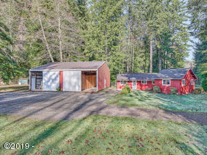 1615 N Bear Creek Rd, Otis, OR 97368 - Front of Home and Shop/RV Garage