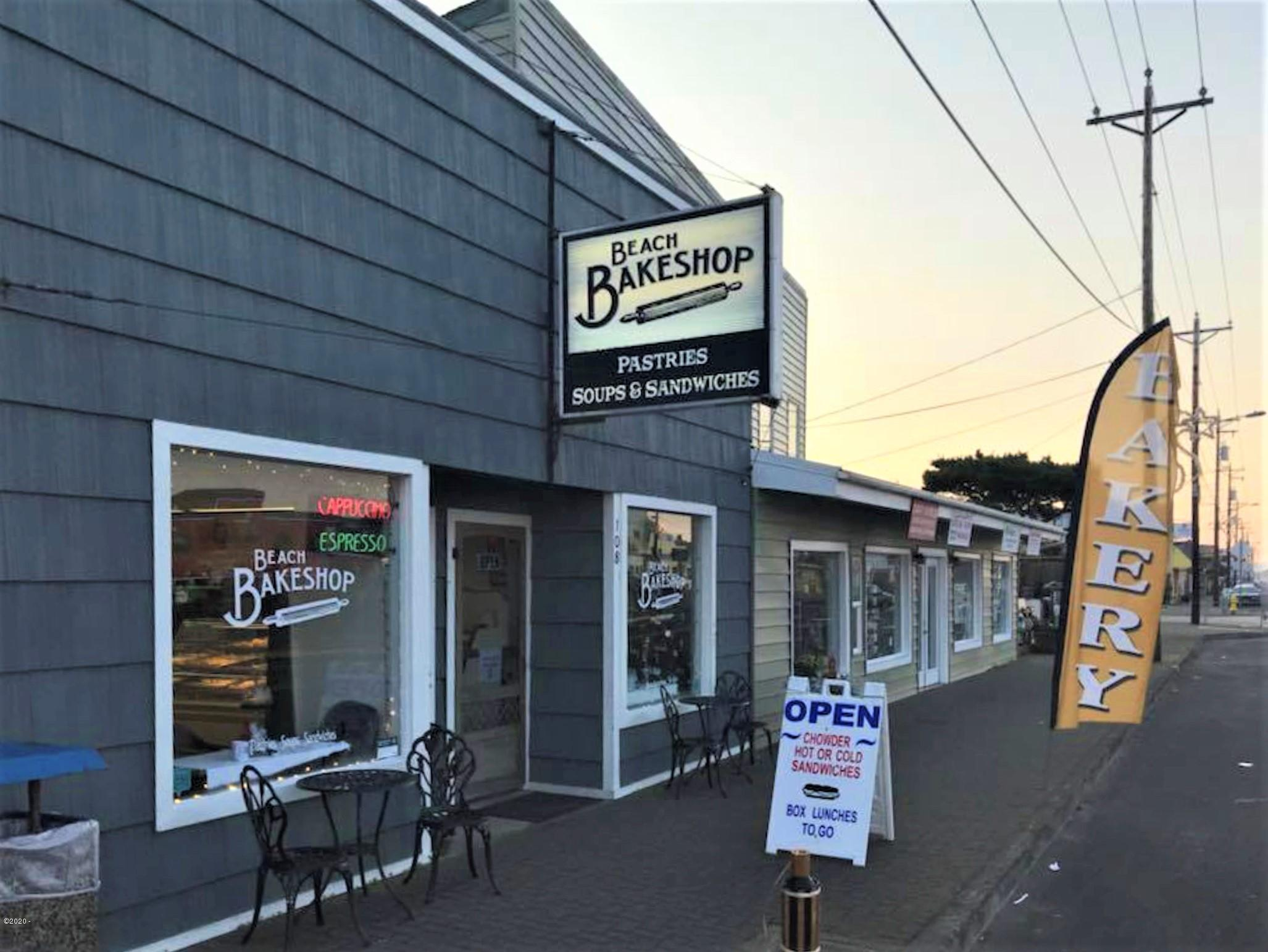 108 SOUTH Oregon Coast Highway 101, Rockaway Beach, OR 97136 - Front of the Bakery