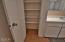 2481 SE Kendal Ct, Newport, OR 97365 - Master Bathroom Linen Closet