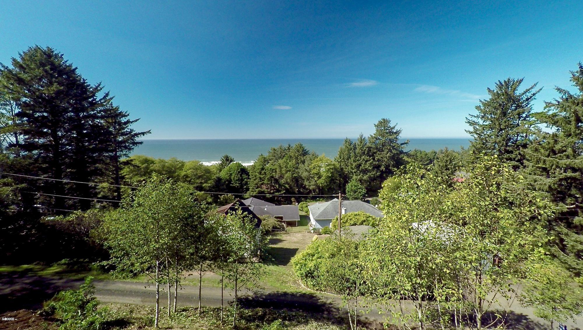 TL 2500 Overlook Dr, Yachats, OR 97498 - View standing at top of lot