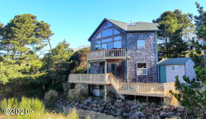 320 Wallace St, Gleneden Beach, OR 97388 - Ocean Side of House