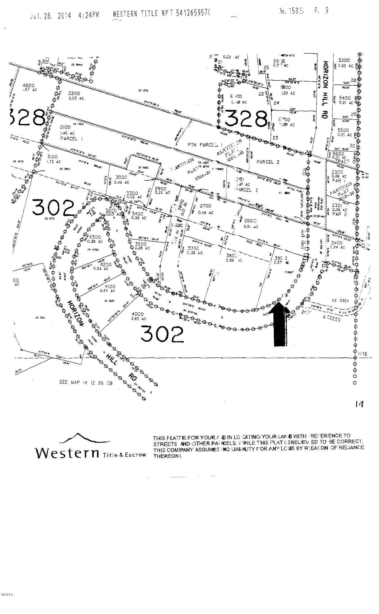 893 Horizon Hill Rd, Yachats, OR 97498 - Plat map