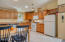 1045 Hidden Valley Rd, Toledo, OR 97391 - Kitchen and dining area