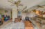 1506 NE Yaquina Heights Dr, Newport, OR 97365 - living room with pellet stove