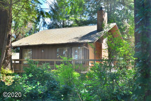 135 E Bay Point Rd, Gleneden Beach, OR 97388 - Front of Home through brush