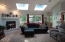 1015 SW Pine Ave, Depoe Bay, OR 97341 - Great room with patio door to deck
