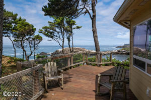 525 NW Yaquina Avenue, Depoe Bay, OR 97341 - View from deck.