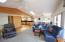 115 Fishing Rock St, Depoe Bay, OR 97341 - Living room with dining & kitchen beyond