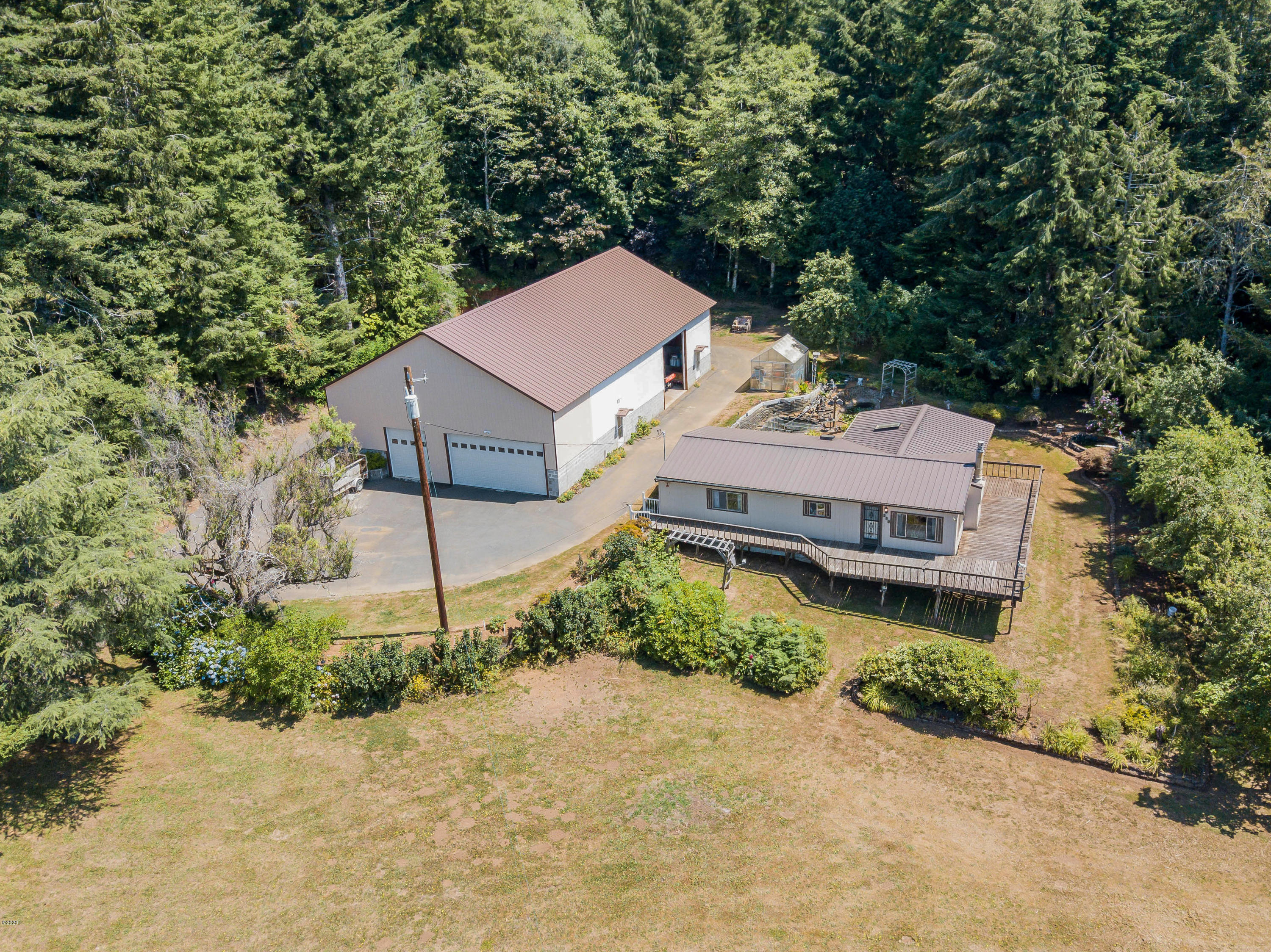 295 N Bear Creek Rd, Otis, OR 97368 - Aerial-Property