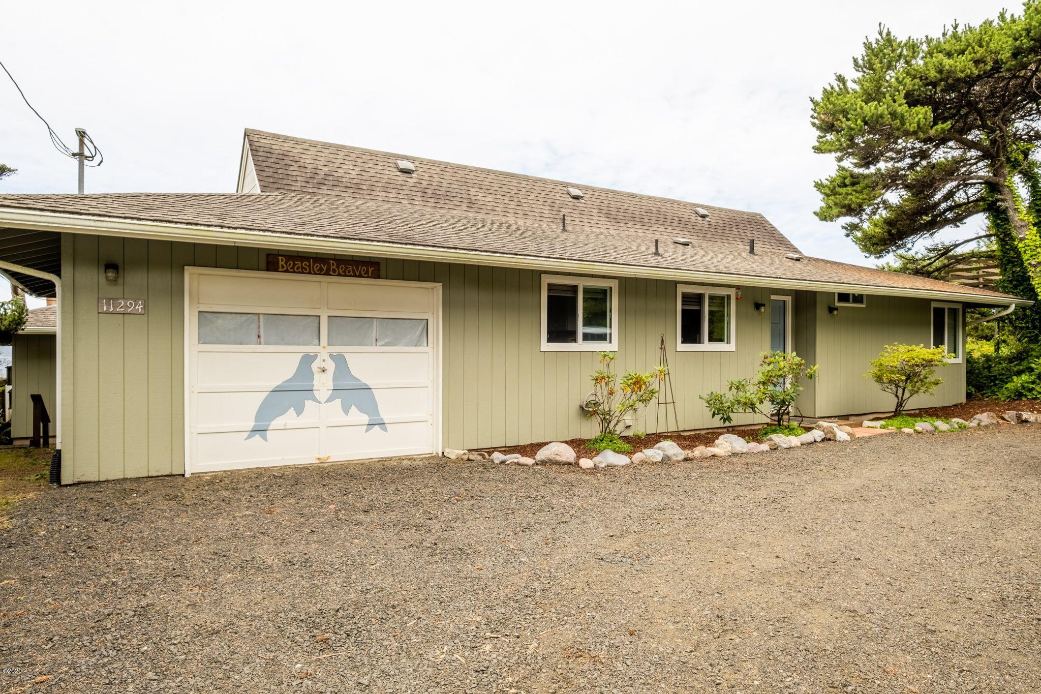 11294 NW Pacific Coast Hwy, Seal Rock, OR 97376 - Front of home
