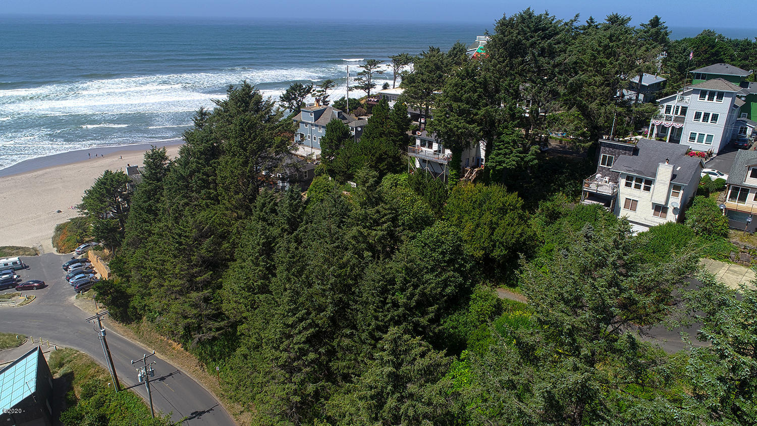 834 SW 10th Place, Lincoln City, OR 97367 - Looking West at property to Ocean