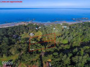 T/L 3000 Seal Rock St, Seal Rock, OR 97376 - Aerial with plat lines
