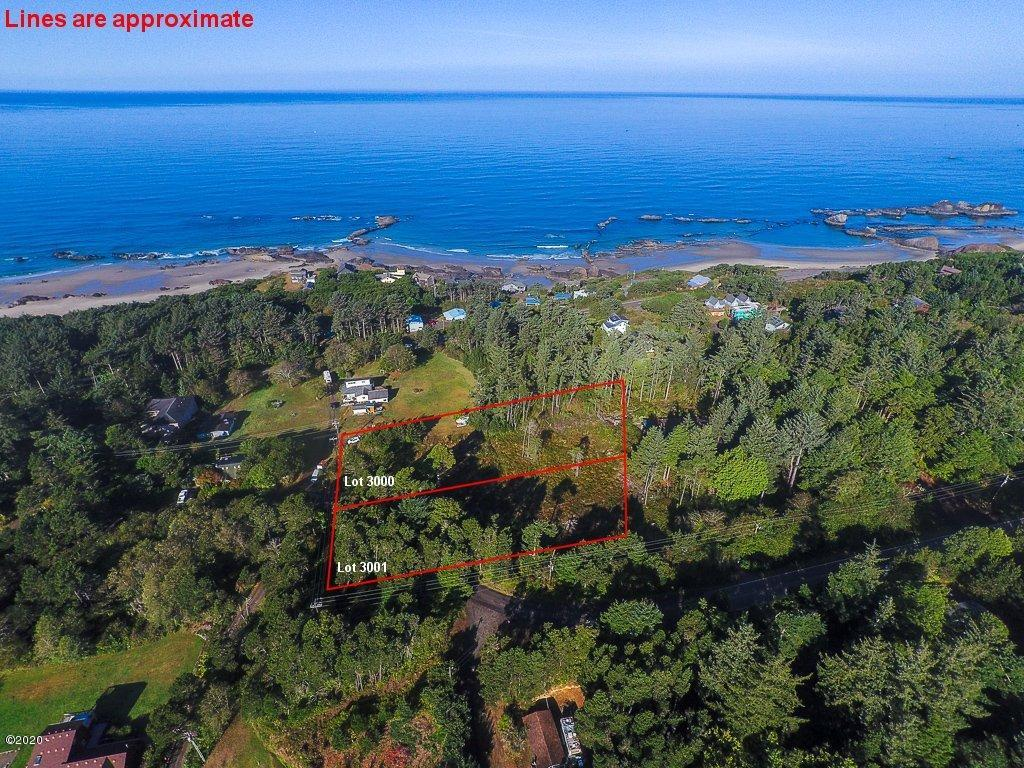 T/L 3001 Seal Rock St, Seal Rock, OR 97376 - Aerial with plat lines