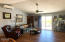 1245 SW Fairway Dr, Waldport, OR 97394 - Living room and slider to deck