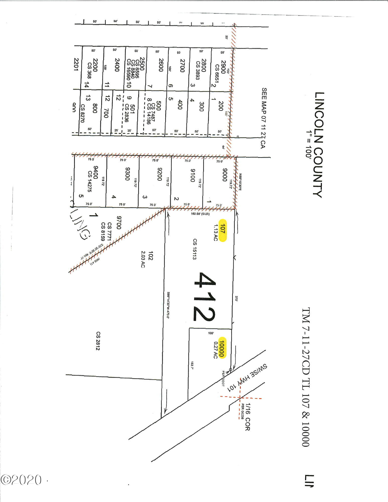 4500 SW Hwy 101, Lincoln City, OR 97367 - Plat Map