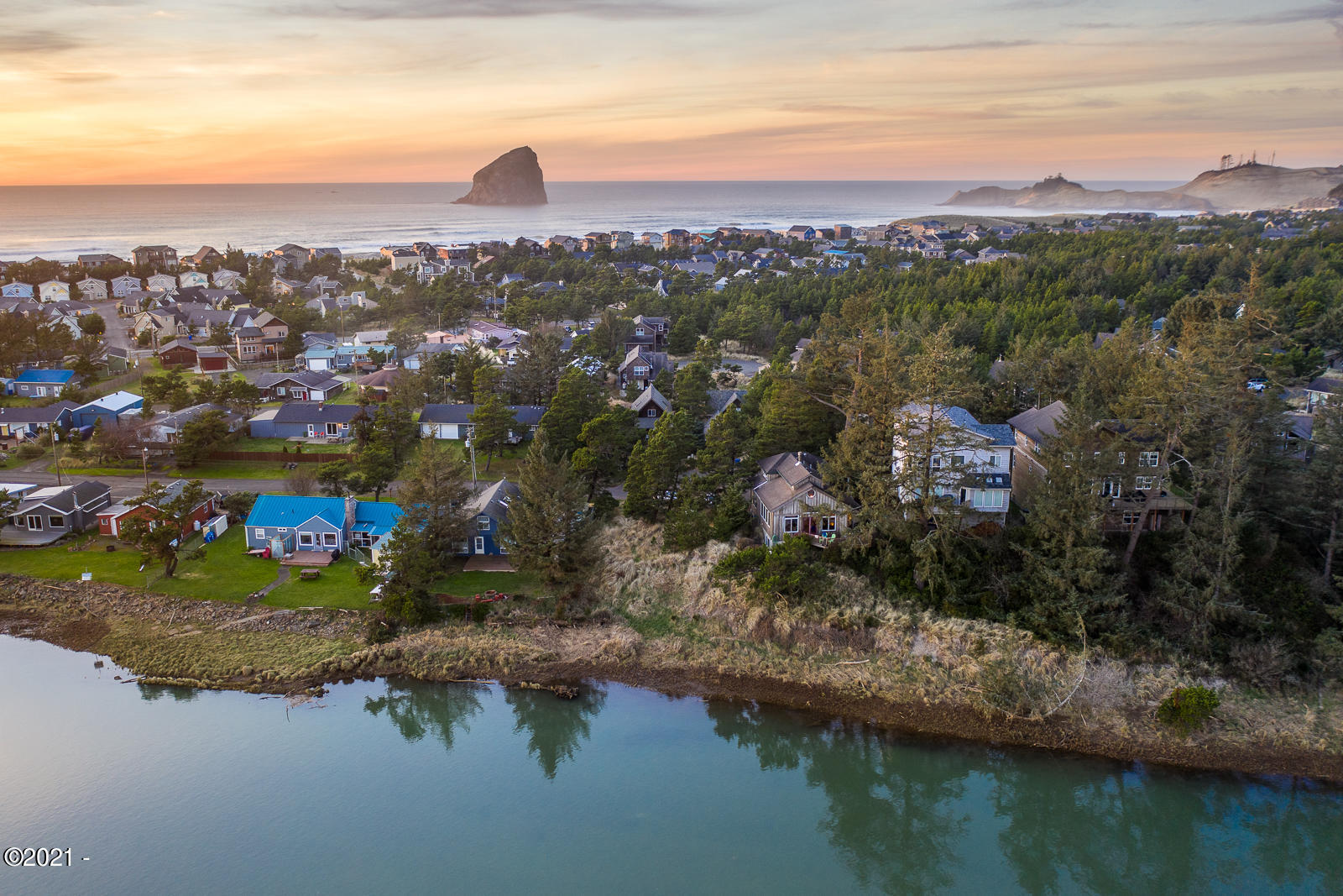 LOT 118 Nestucca Blvd, Pacific City, OR 97135 - Aerial to West