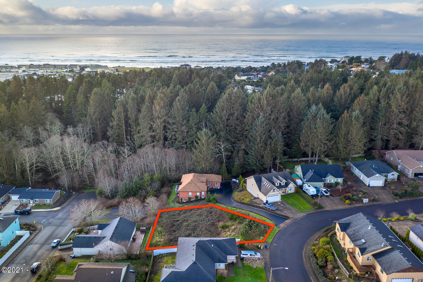 TL 3500 NE Voyage Loop, Lincoln City, OR 97367 - Lot Lines Approximate