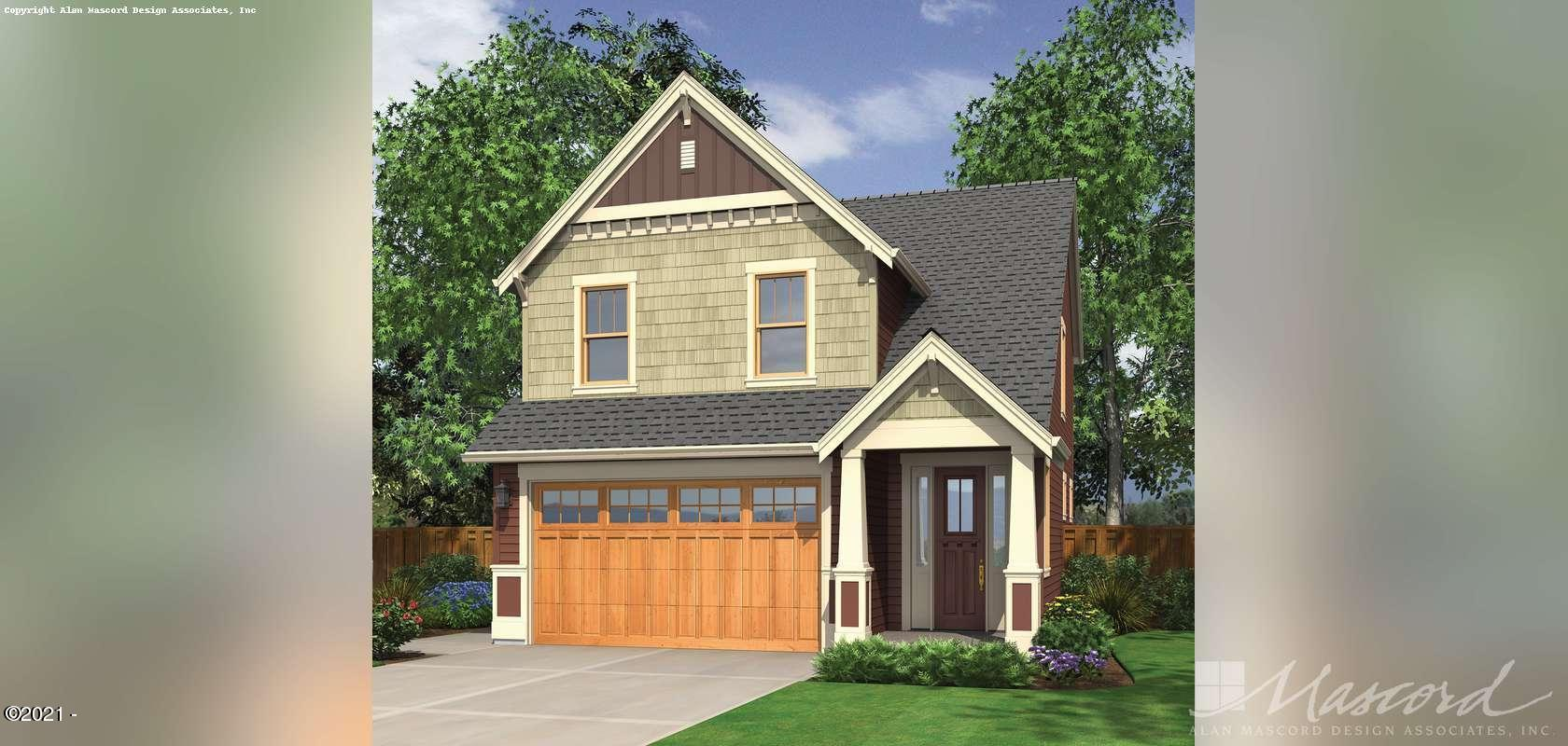 4265 Sequoia Loop, Netarts, OR 97143 - House plan exterior - The Monroe