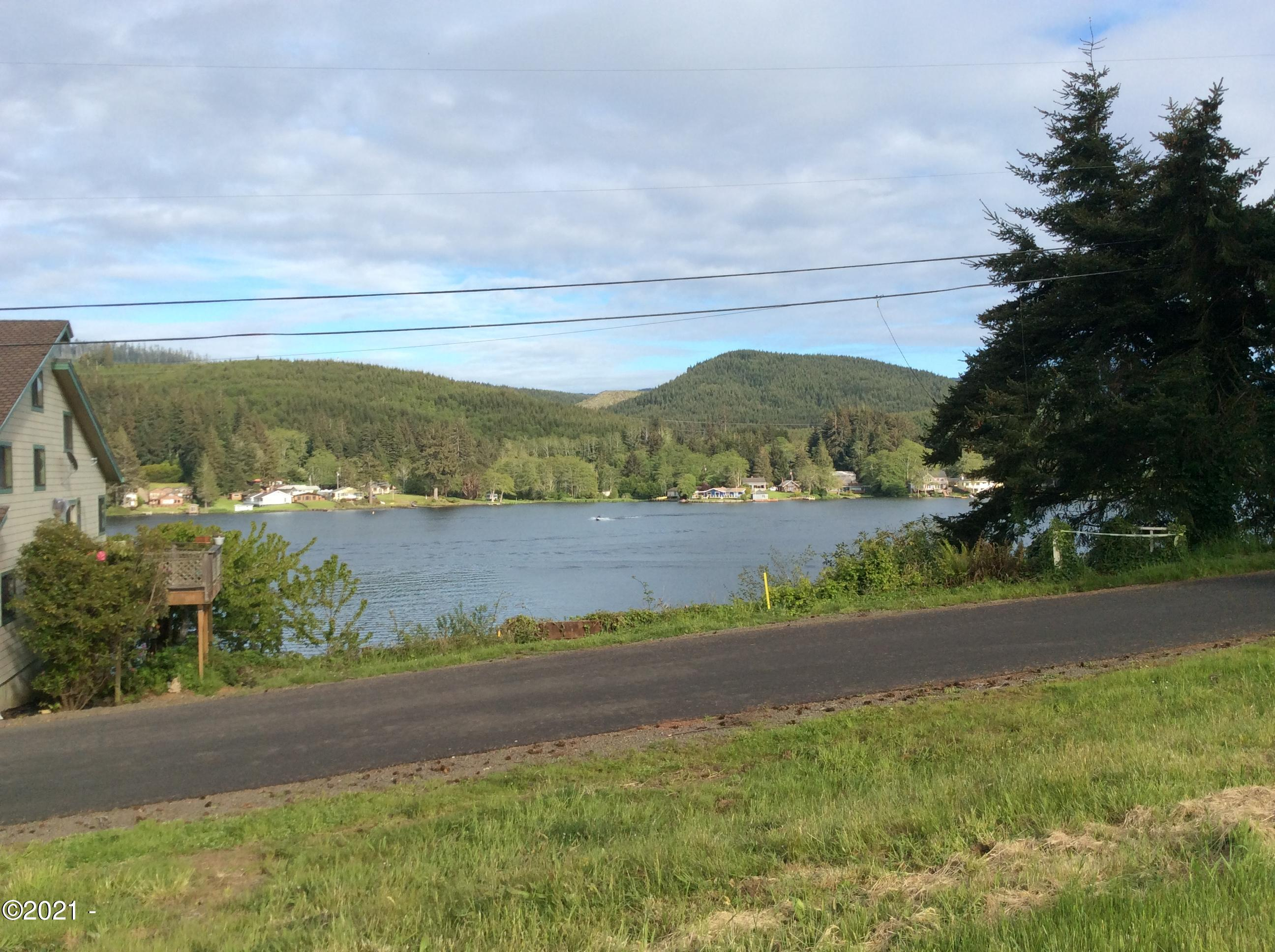 1445 NE Lake Dr, Lincoln City, OR 97367 - 1) Lake view across street from lots