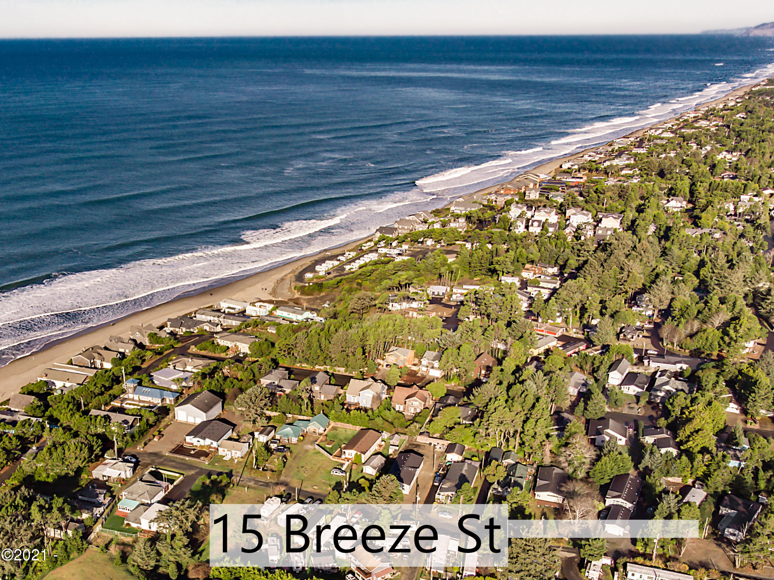 15 Breeze St., Depoe Bay, OR 97341 - Aerial Photo
