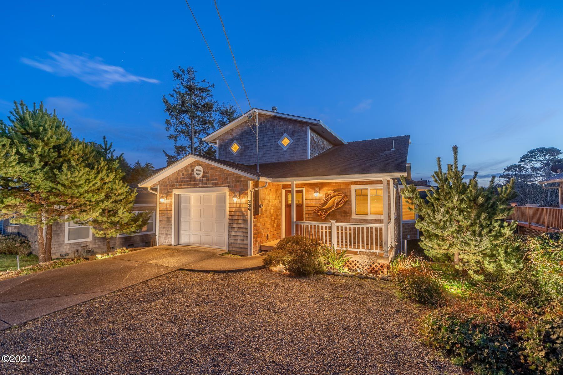 326 Pearl St, Gleneden Beach, OR 97388 - twilight front