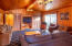7123 NW Logan Rd, Lincoln City, OR 97367 - East View of Vaulted Family Room