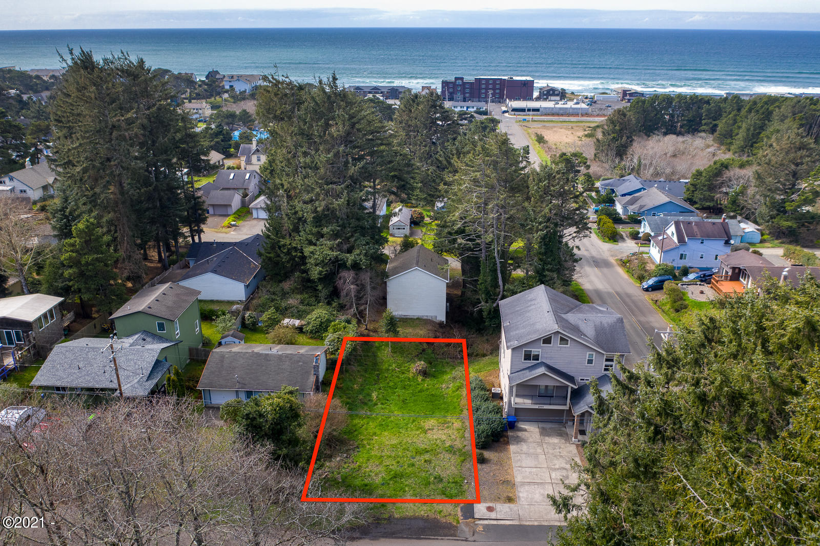 2743 NW Neptune Ave, Lincoln City, OR 97367 - Aerial of Lot