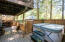 2118 NE Indian Shores Dr, Lincoln City, OR 97367 - Hot tub on lower deck