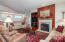 35 SW South Point St, Depoe Bay, OR 97341 - Great room Gas Fireplace w/stone mantle