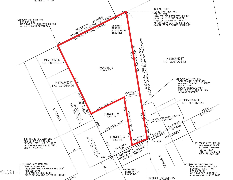 264 LOT 1 NE 4th St, Willamina, OR 97396 - Plat Map