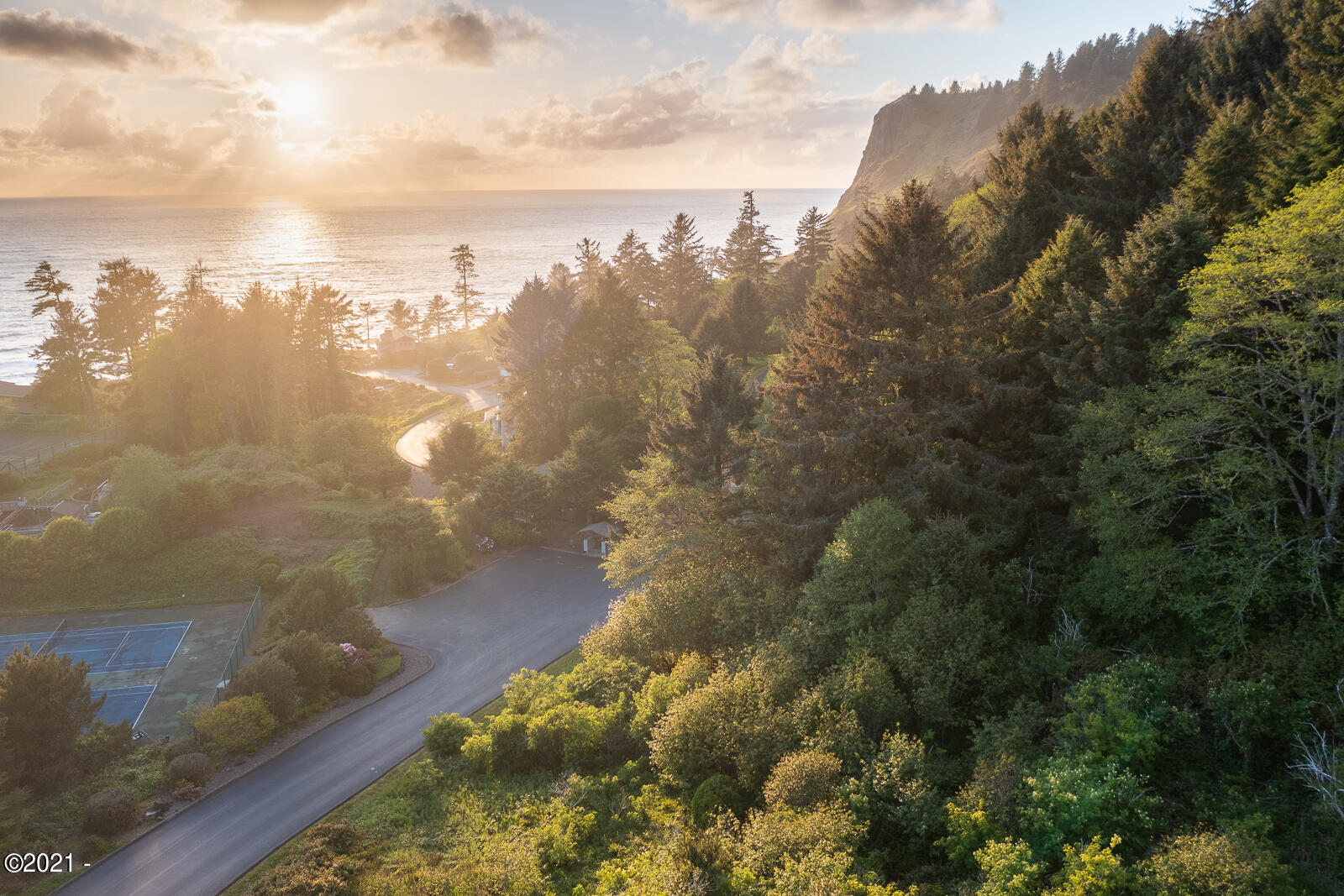 LOT 20 Sea Crest Dr, Otter Rock, OR 97369 - Drone View