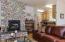 430 SW Wakonda Beach Rd, Waldport, OR 97394 - Living Room Rock Fireplace
