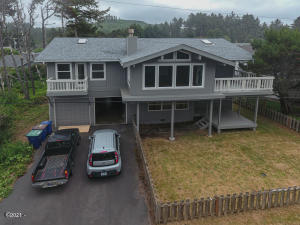 558 Point Ave, Depoe Bay, OR 97341 - drone across the street