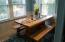 420-440 W 2nd St, Yachats, OR 97498 - Dining table with benches