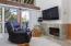301 Otter Crest Dr, #224 & 225, Otter Rock, OR 97369 - Living Room Fireplace