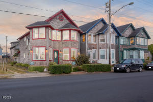 Three Victorian Homes in the heart of Nye Beach, directly across from the Newport Preforming Arts center.