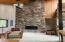 6740 Glen Ave, Gleneden Beach, OR 97388 - Rock Fireplace