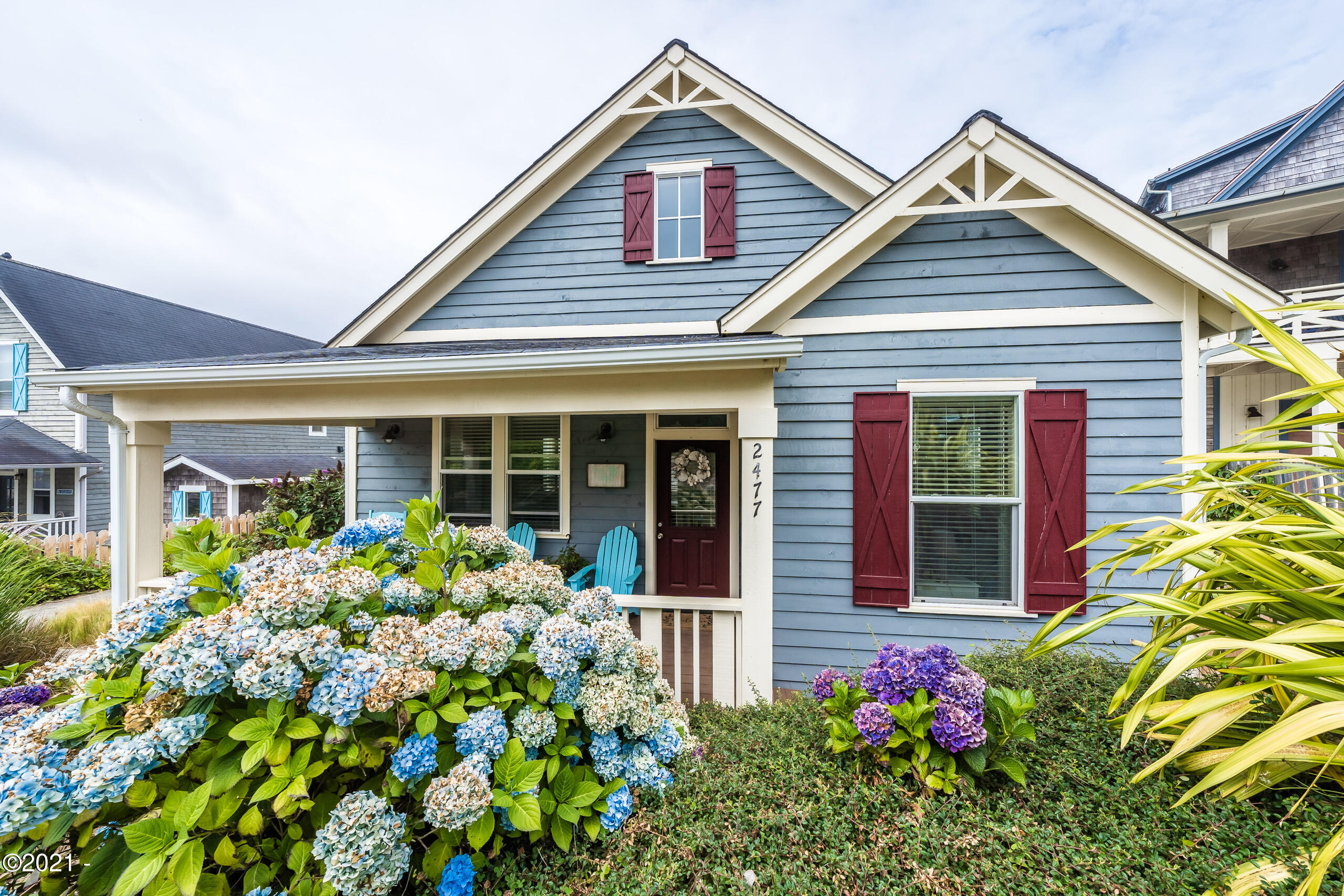 2477 SW Anemone Ave, Lincoln City, OR 97367 - Charming Covered Porch Entry