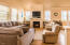 2477 SW Anemone Ave, Lincoln City, OR 97367 - Living room with Gas Fireplace