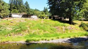 626 E Yates Rd, Alsea, OR 97324 - View of house from river